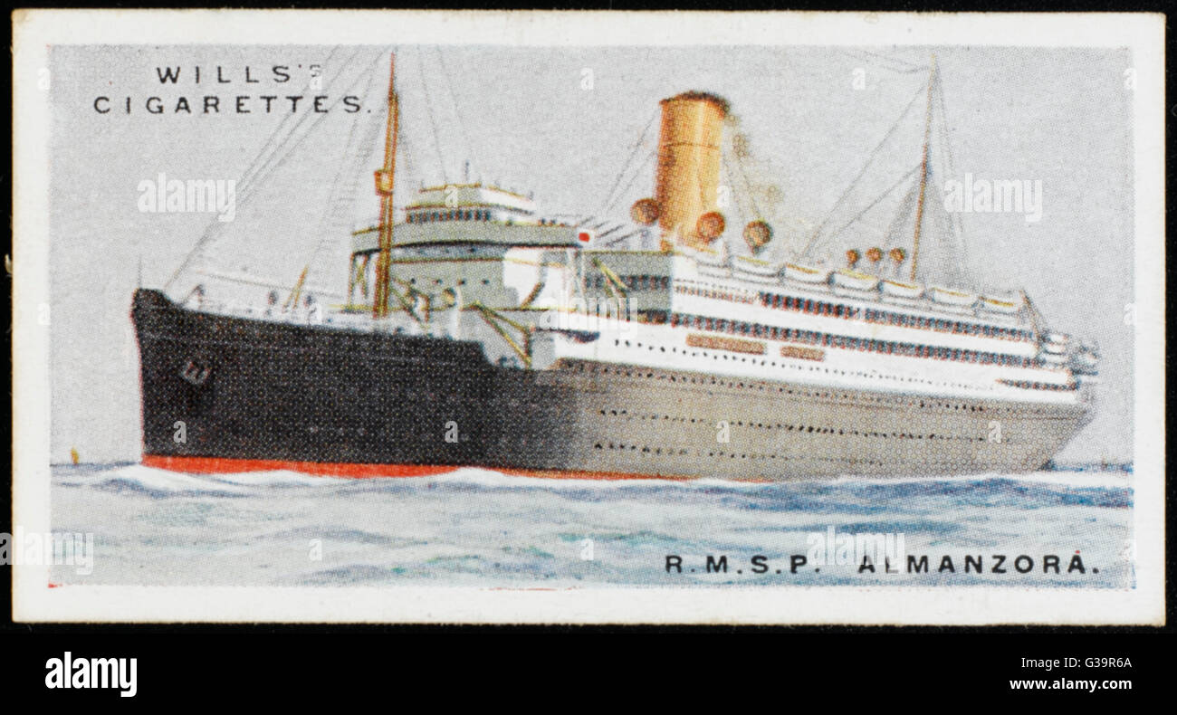 Royal Mail Steam Packet  Company liner on the  South American run        Date: 1924 - Stock Image