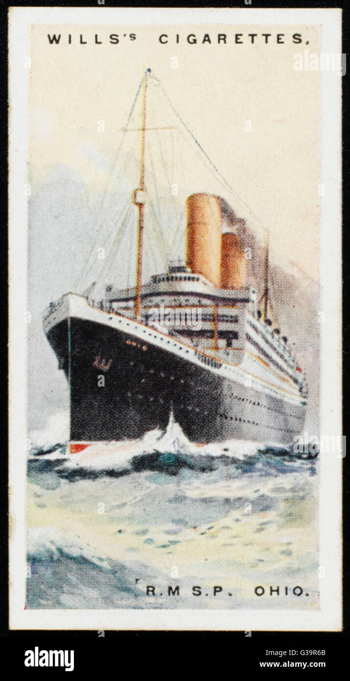 Royal Mail Steam Packet  Company liner on the  New York - Europe run        Date: 1924 - Stock Image