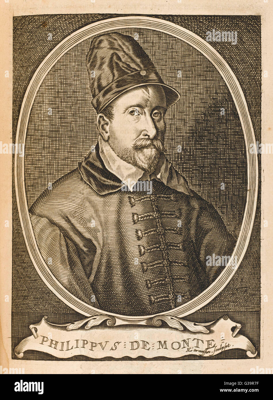 PHILIPPE DE MONTE  Flemish musician, wrote masses  and motets, visited Austria  and England      Date: 1521 - 1603 - Stock Image