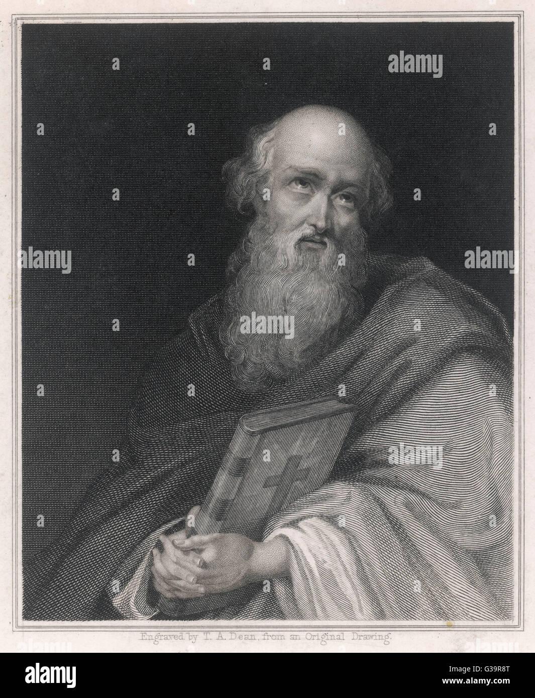 POLYCARP  Bishop of Smyrna (Izmir), martyr       Date: 69 - 155 - Stock Image