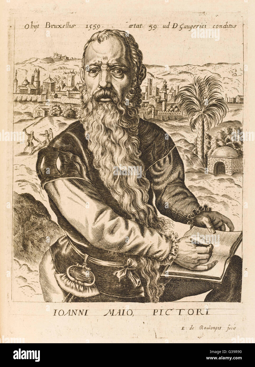 JAN CORNELIS VERMEIJEN  Dutch artist        Date: 1500 - 1559 - Stock Image