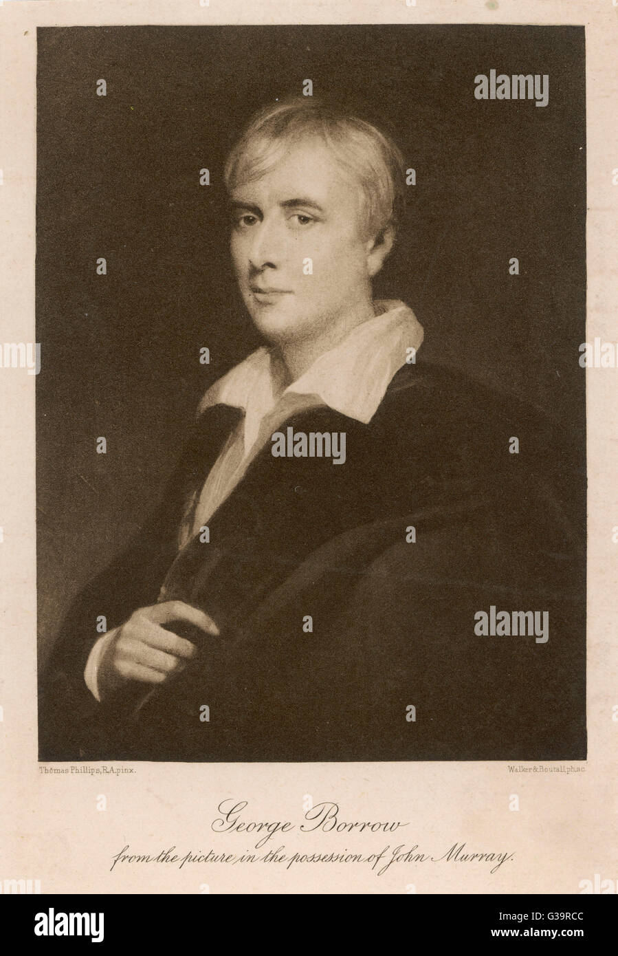 GEORGE BORROW  English author and linguist       Date: 1803 - 1881 - Stock Image