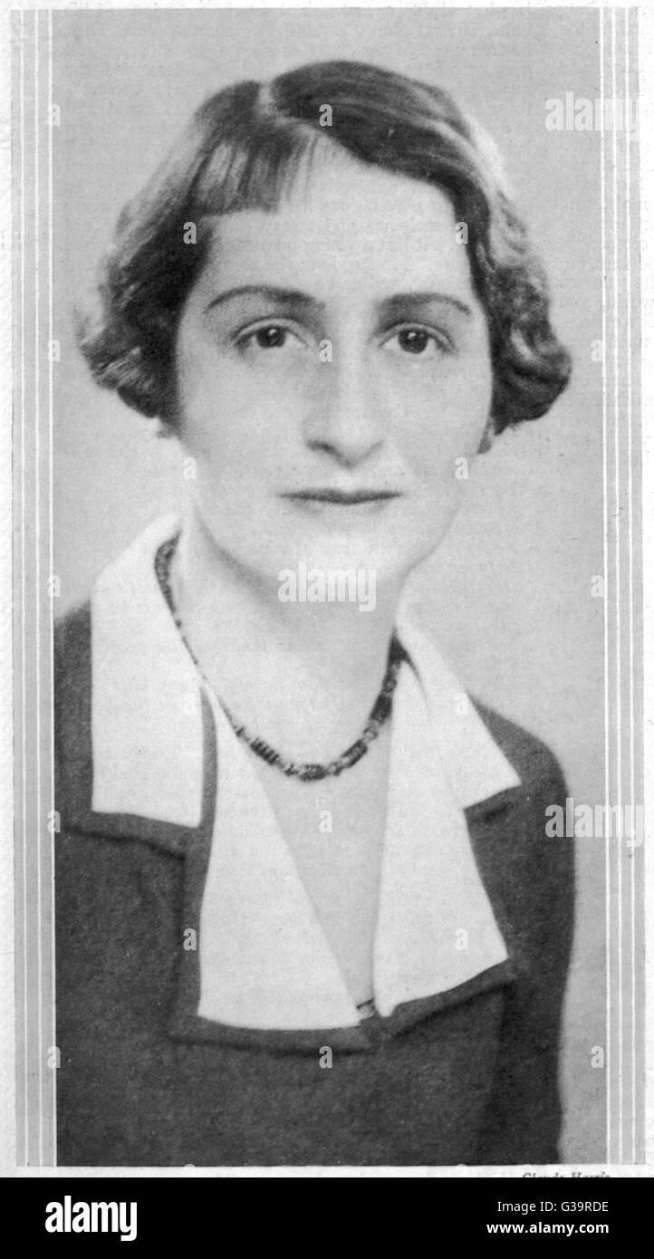 VERA MARY BRITTAIN  English writer        Date: 1896? - 1970 - Stock Image