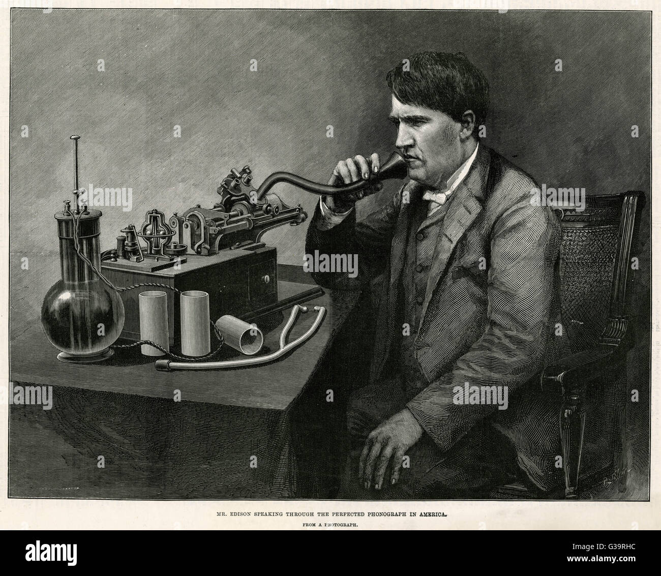 Many Sizes; Thomas Edison And The Perfected-Phonograph-Group In 1888 Poster
