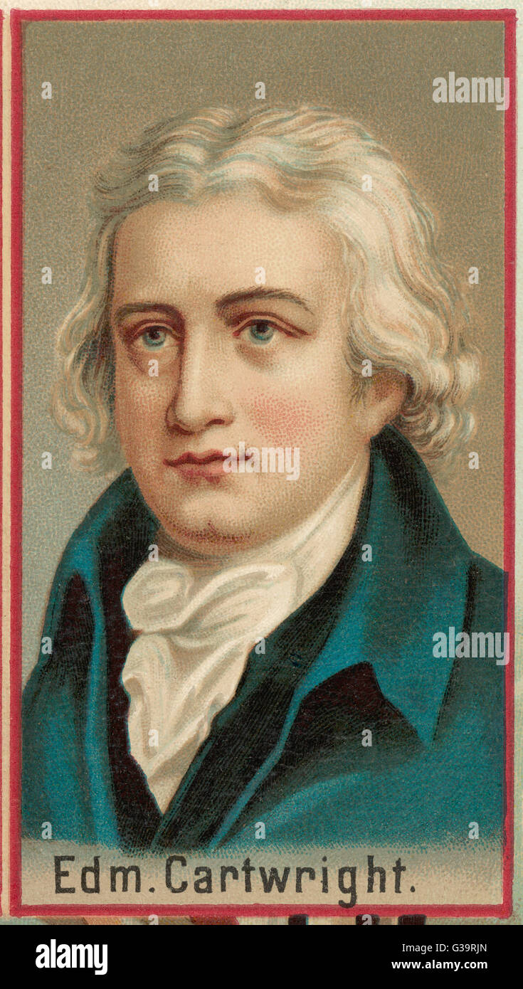 Edmund Cartwright Inventor Of The Power Loom Date 1743 1823 Stock