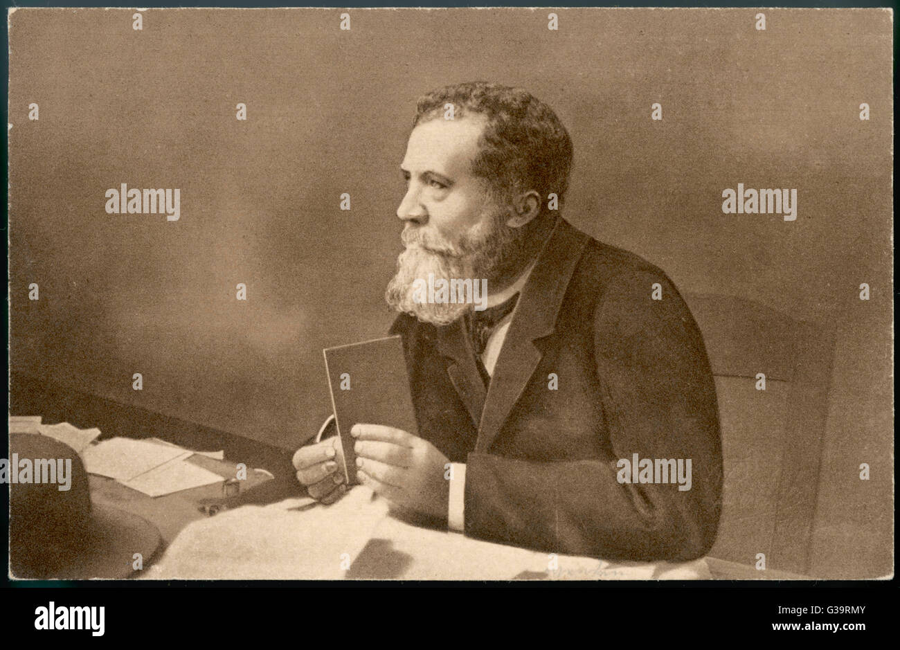 JEAN-JOSEPH-MARIE-AUGUSTE  JAURES French socialist statesman,  founded and edited  'L'Humanite' opposing - Stock Image