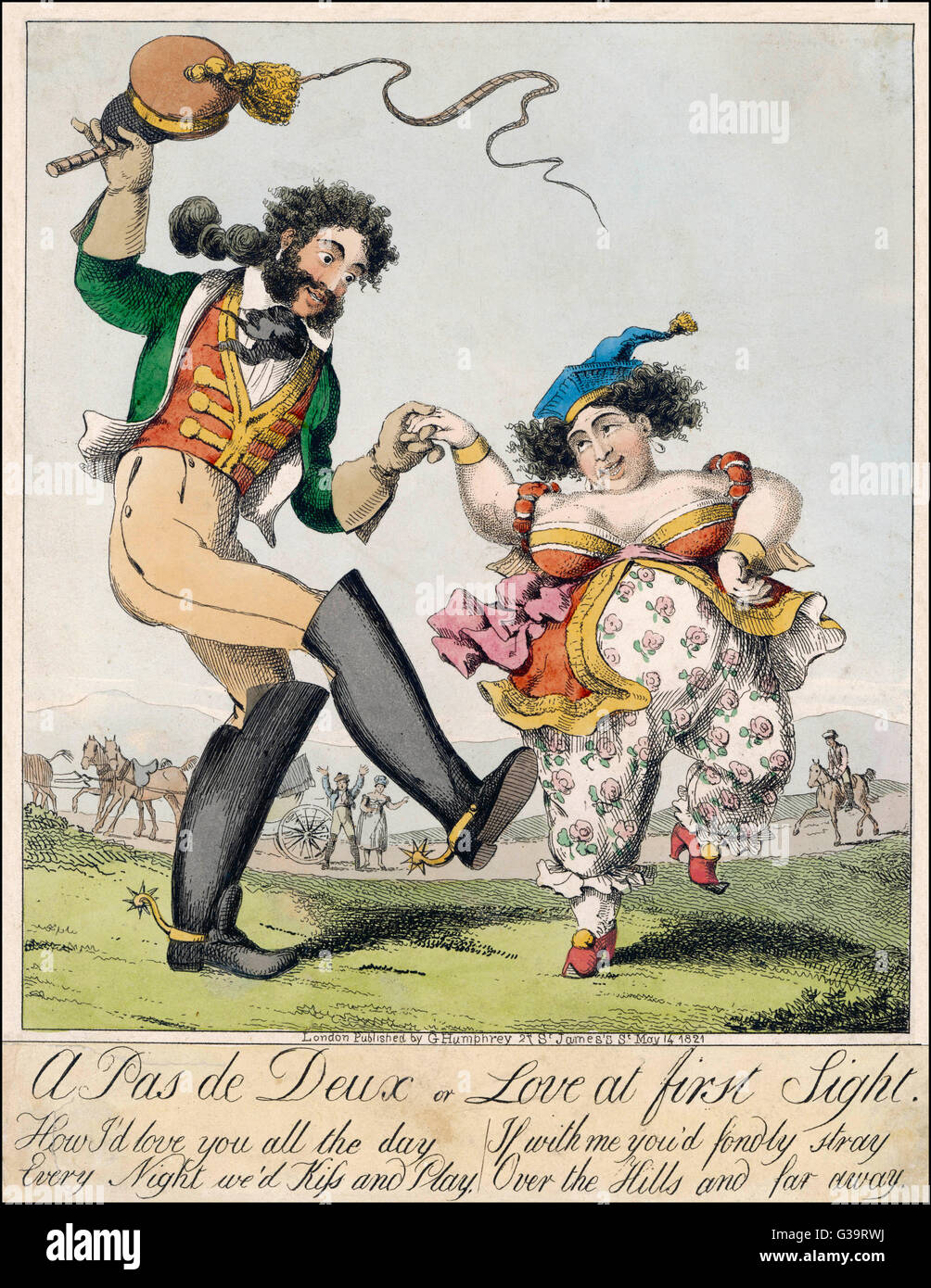 A Pas De Deux Or Love At First Sight Satire On Caroline Of Stock