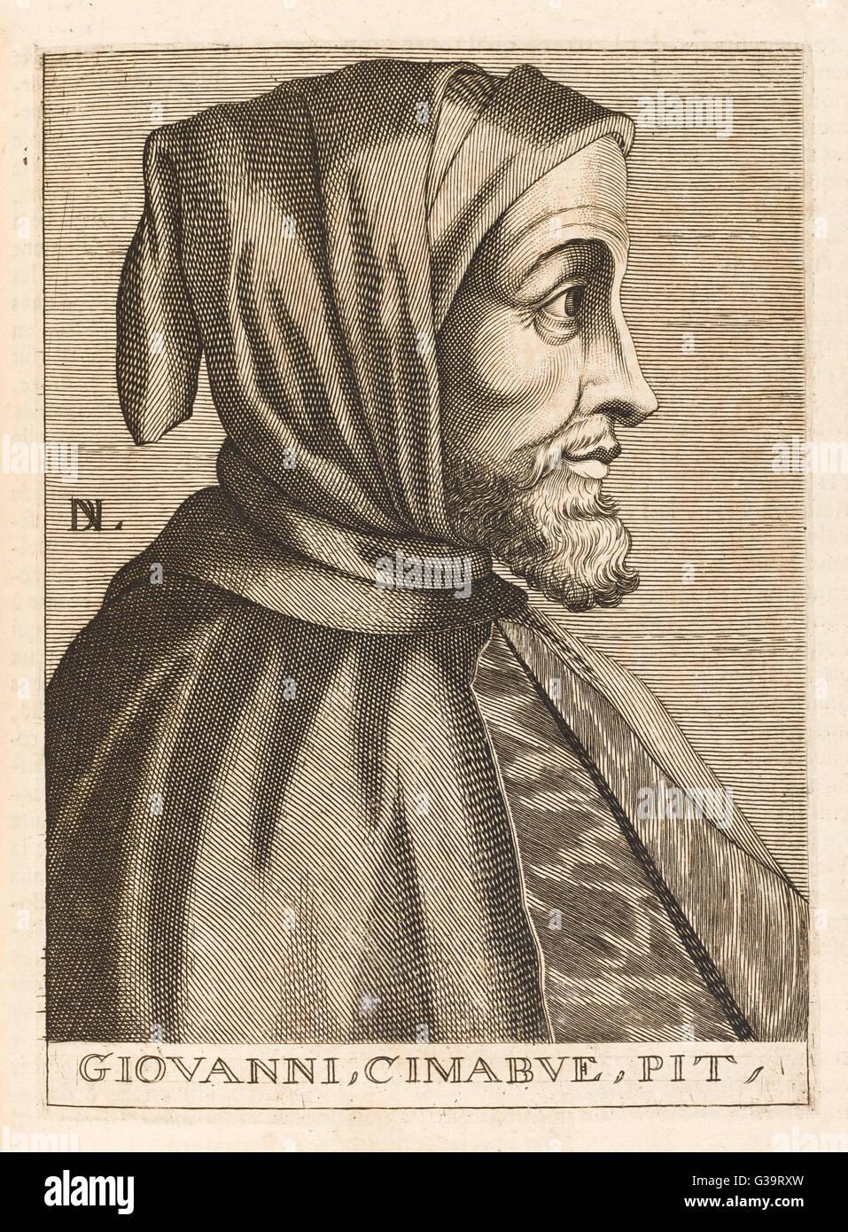 CIMABUE alias BENCIVIENI DI PEPO  Italian painter       Date: 1240 - 1302 - Stock Image