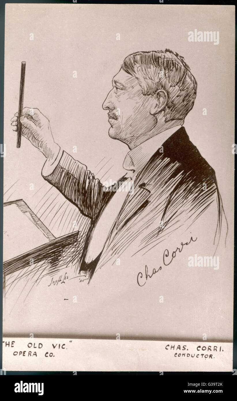 CHARLES CORRI  Conductor of  The Old Vic Opera company      Date:   - - Stock Image