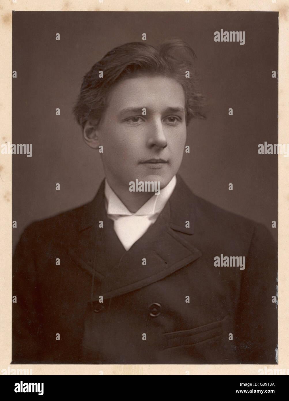 EDWARD GORDON CRAIG  Stage designer in 1890       Date: 1872 - 1966 - Stock Image