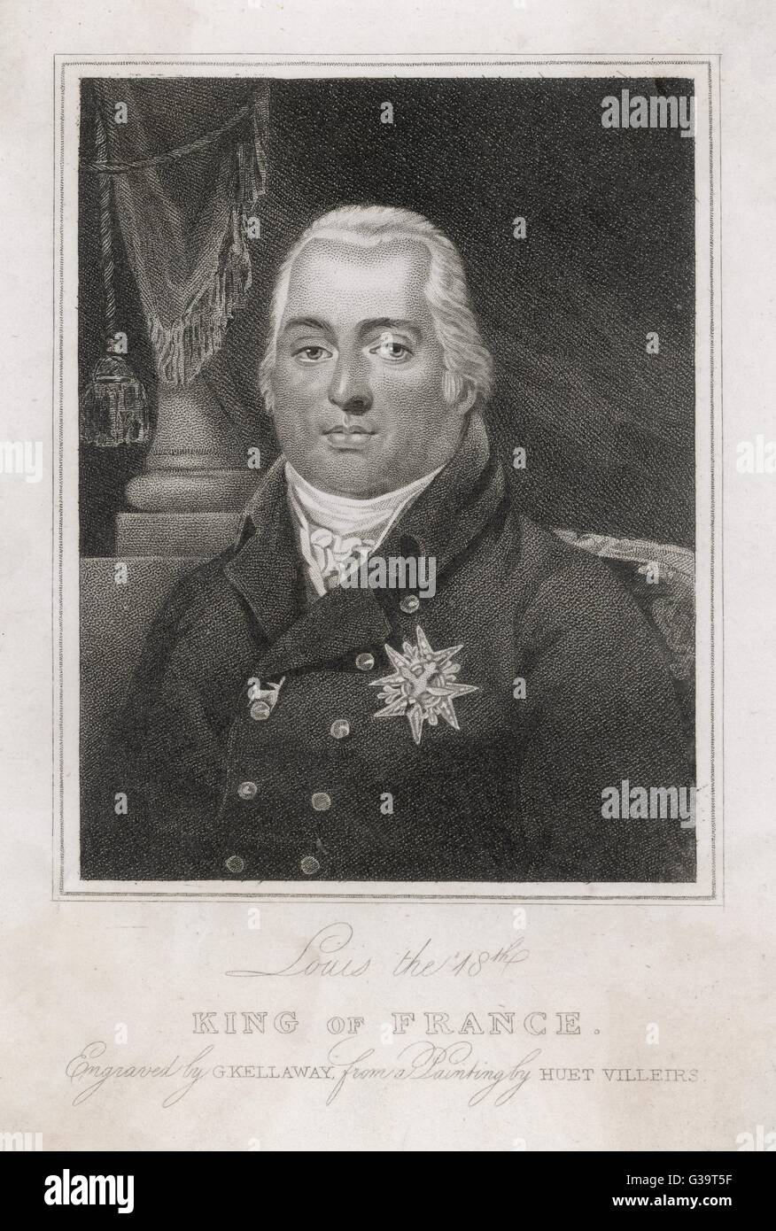 LOUIS XVIII OF FRANCE          Date: 1755 - 1824 - Stock Image