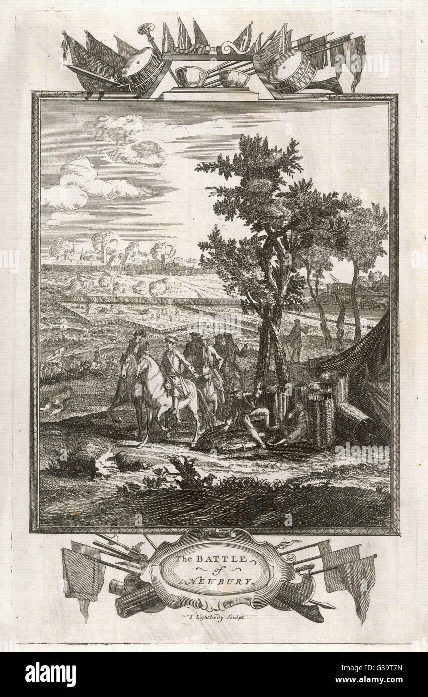 The Battle of Newbury.          Date: 20 September 1643 - Stock Image
