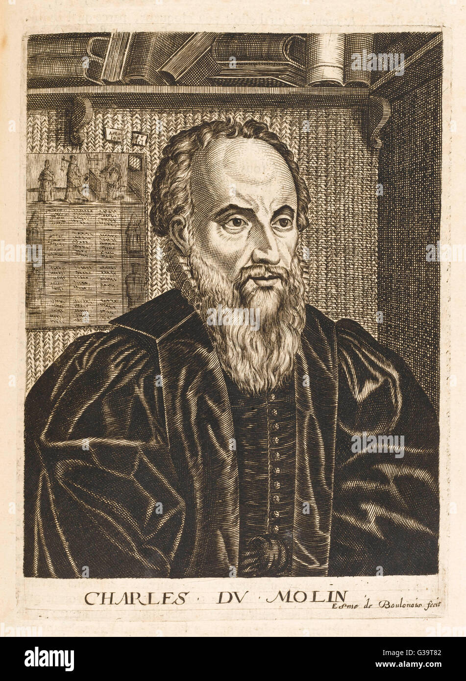 CHARLES DUMOULIN  French jurist        Date: 1500 - 1566 - Stock Image