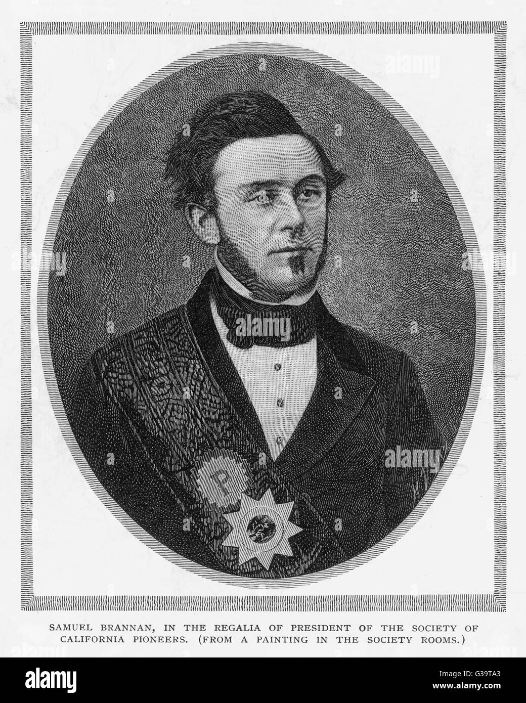 SAMUEL BRANNAN  Leader of colony of Mormons  to San Francisco in 1846; made  fortune during California gold  rush - Stock Image