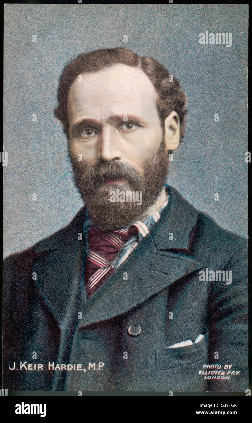 JAMES KEIR HARDIE  British labour leader and politician        Date: 1856 - 1915 - Stock Image
