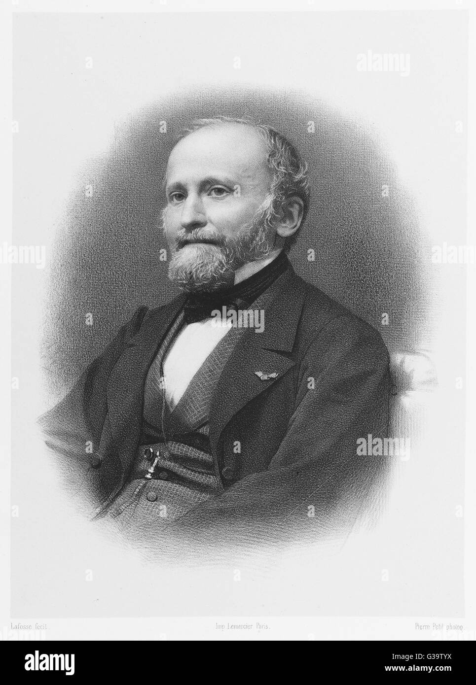 EMILE EGGER  French classical scholar        Date: 1813 - 1885 - Stock Image