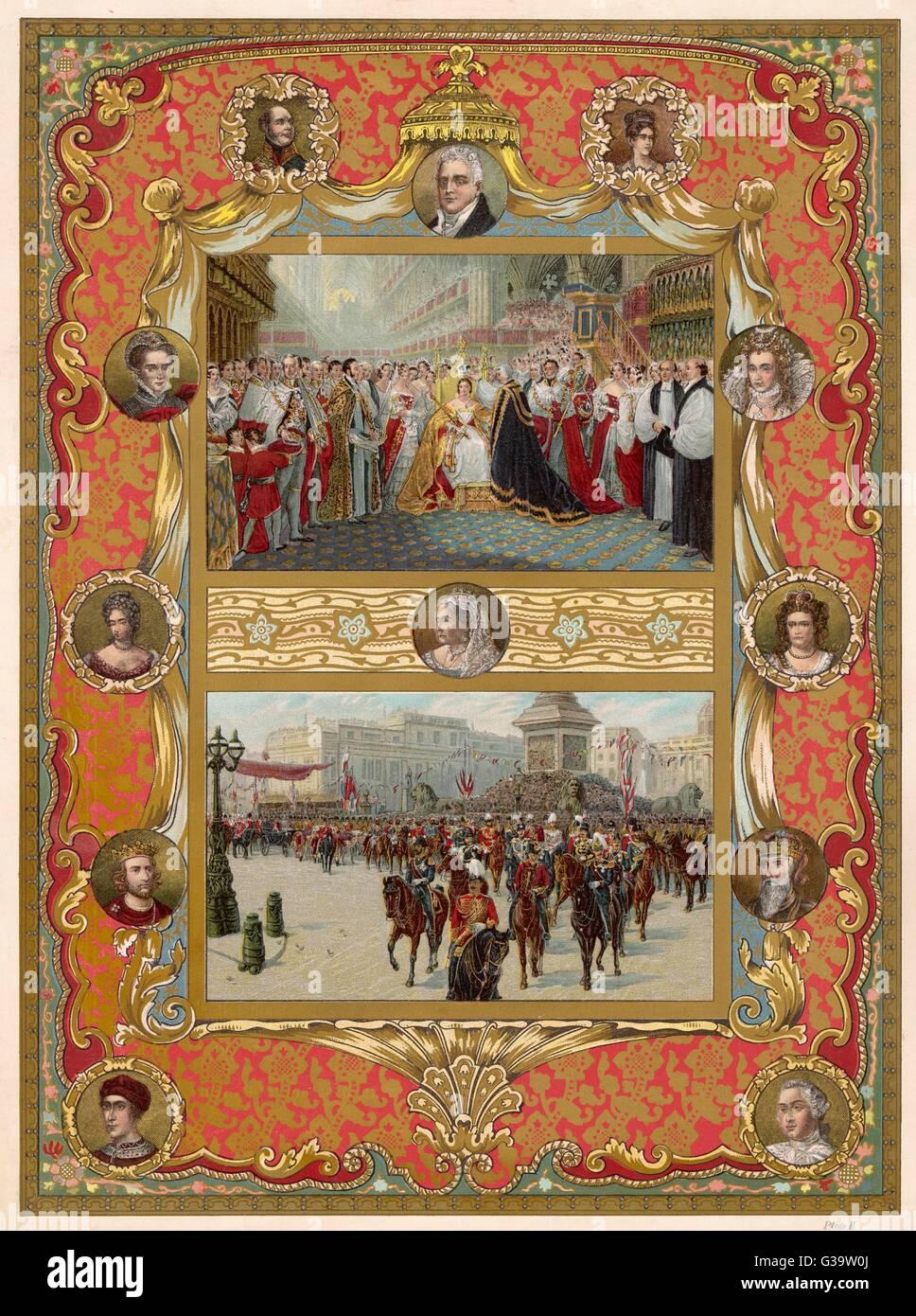 Queen Victorias Golden Jubilee Stock Photos & Queen Victorias Golden ...