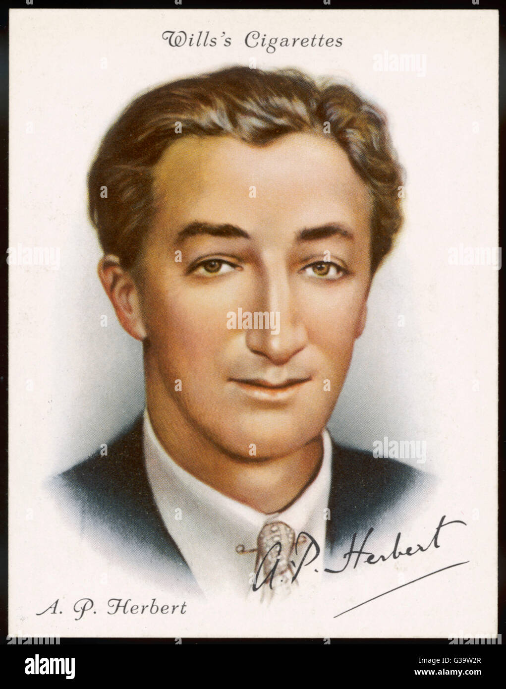 English journalist and writer SIR ALAN PATRICK HERBERT (1890-1971), alias ALBERT HADDOCK.      Date: 1936 - Stock Image