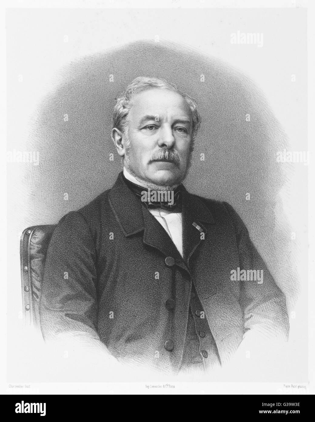 Etienne-Jules Adolphe, Desmier  de Saint-Simon, vicomte  d'ARCHIAC  French geologist and  mineralogist     Date: - Stock Image