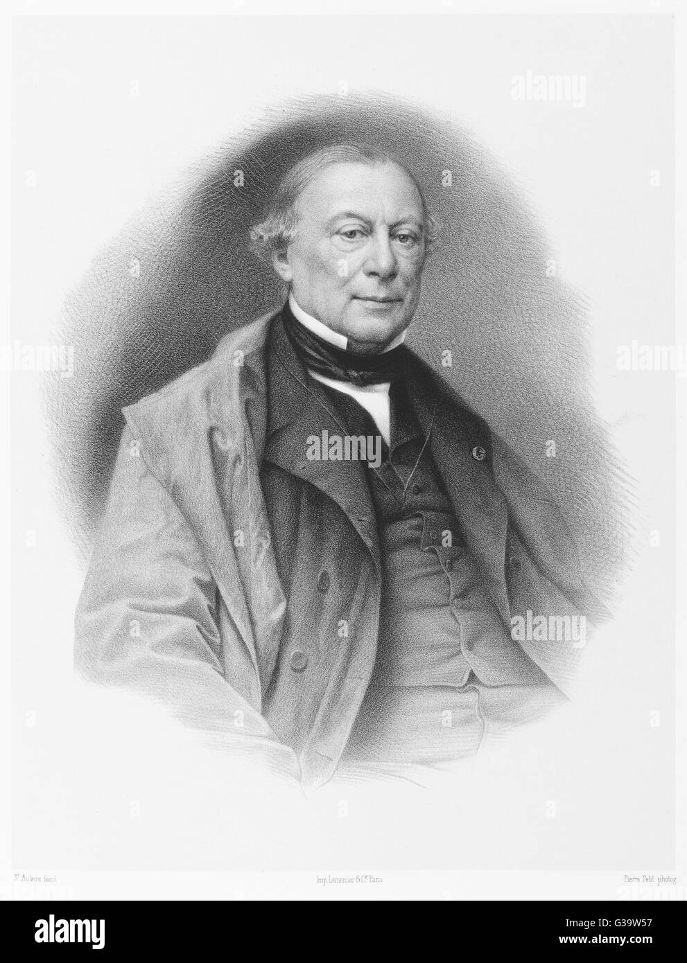 FAUSTIN HELIE  French jurist        Date: 1799 - ? - Stock Image