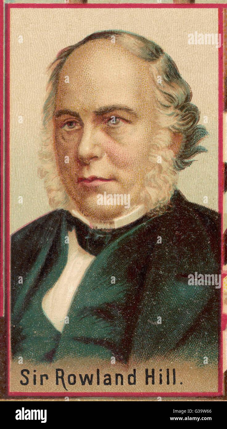 SIR ROWLAND HILL  English postal reformer        Date: 1795 - 1879 - Stock Image