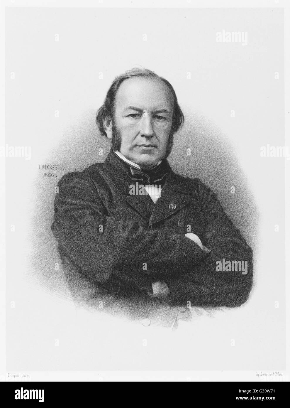 CLAUDE BERNARD  French medical        Date: 1813 - 1878 - Stock Image