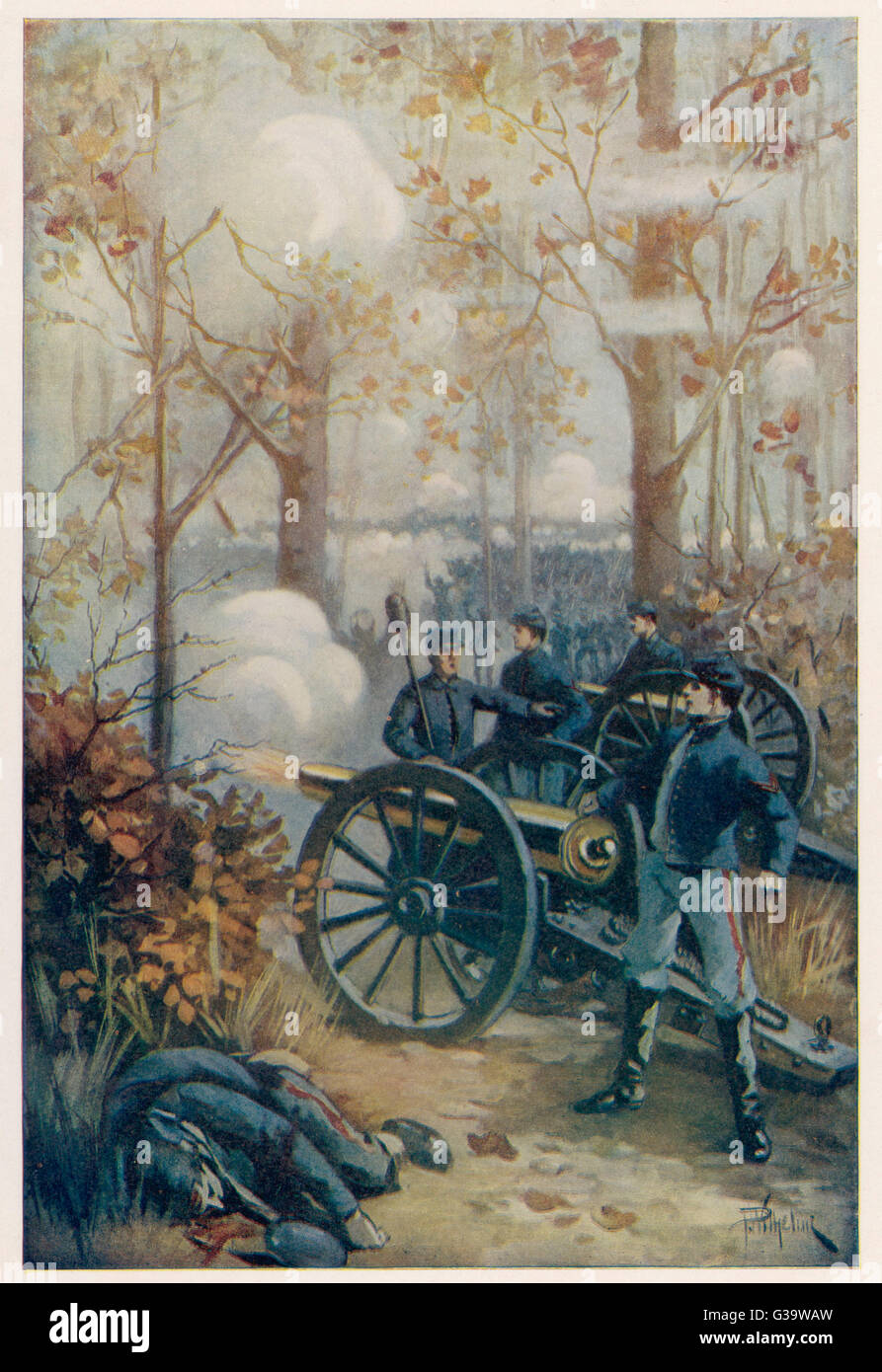 THE BATTLE OF SHILOH  An engagement between Union  forces under General Grant and  Confederate forces under  Albert - Stock Image