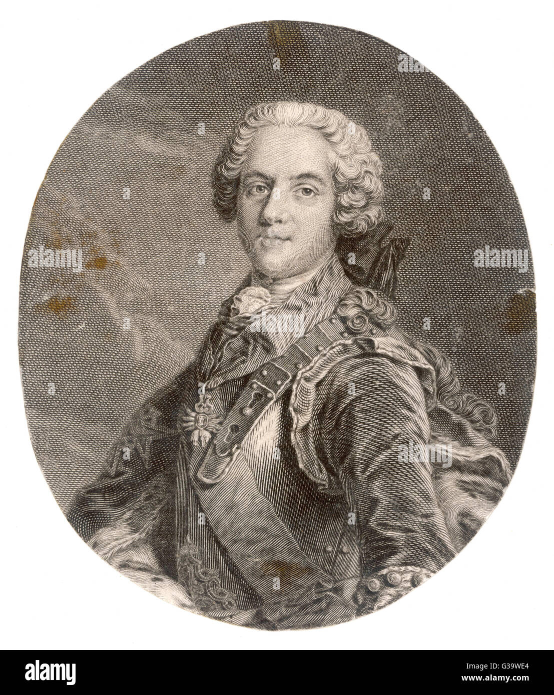 CHARLES STUART THE YOUNG PRETENDER  Bonnie Prince Charlie       Date: 1720 - 1788 - Stock Image