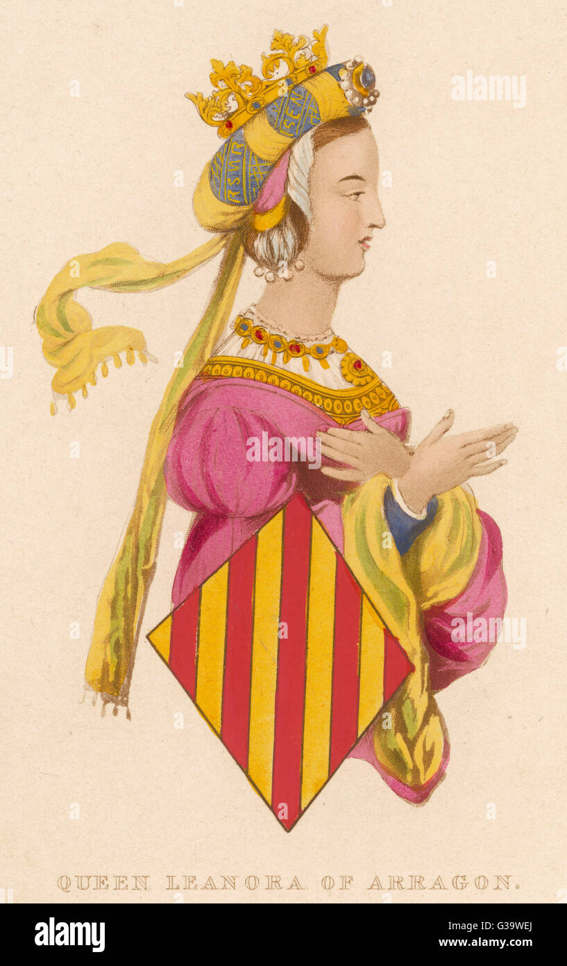 LEONORA OF ARAGON  Queen of Portugal        Date:     - 1445 - Stock Image