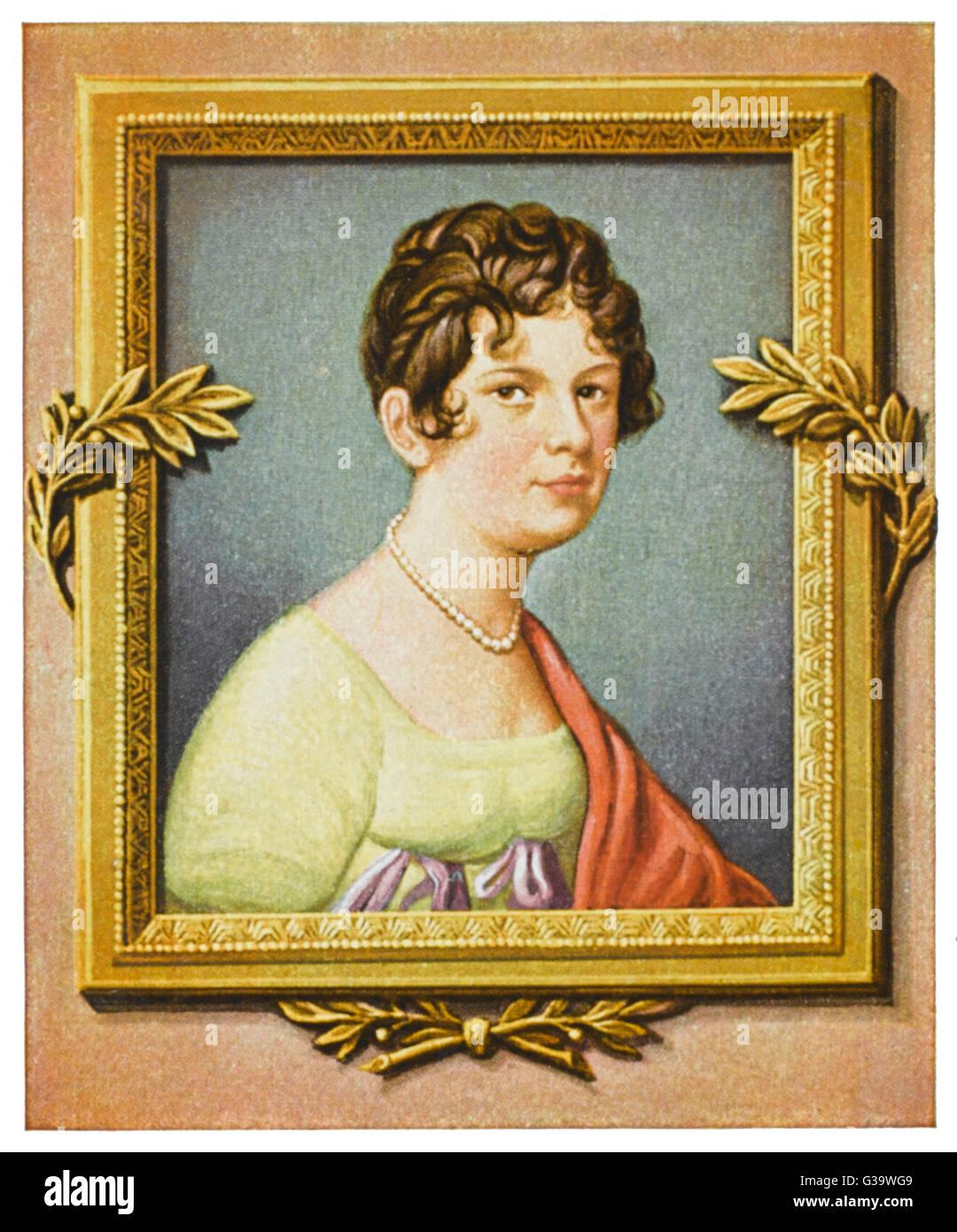 MADAME DE LEFEBVRE  Duchess of Danzig, French social leader       Date: 1759 - 1835 - Stock Image