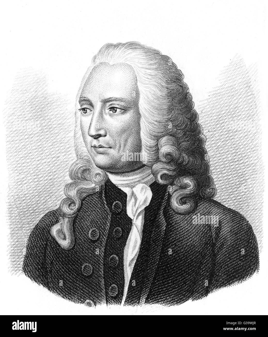 ANDRE LEVRET  French medical        Date: 1703 - 1780 - Stock Image