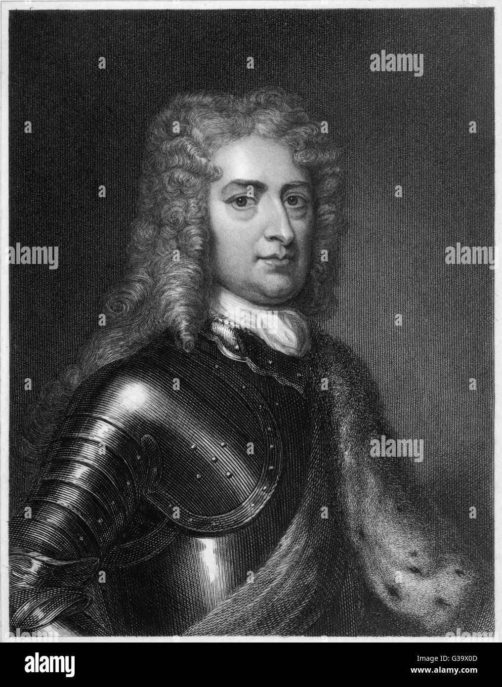 JOHN CHURCHILL  Duke of Marlborough, Commander in Chief over the armies of  England and Holland in the  war of the - Stock Image