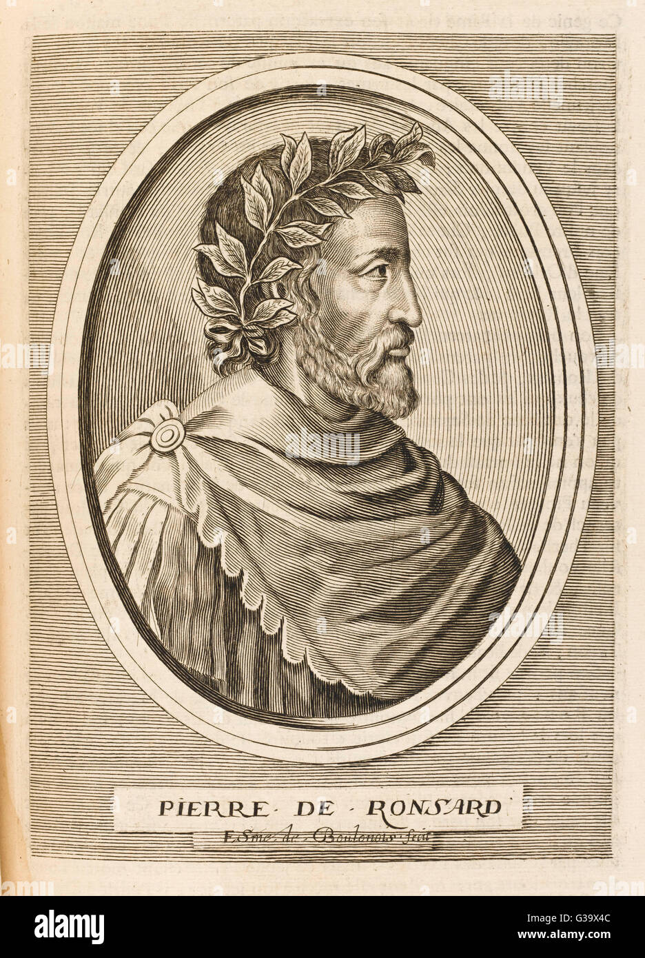 PIERRE RONSARD  French poet        Date: 1524 - 1585 - Stock Image
