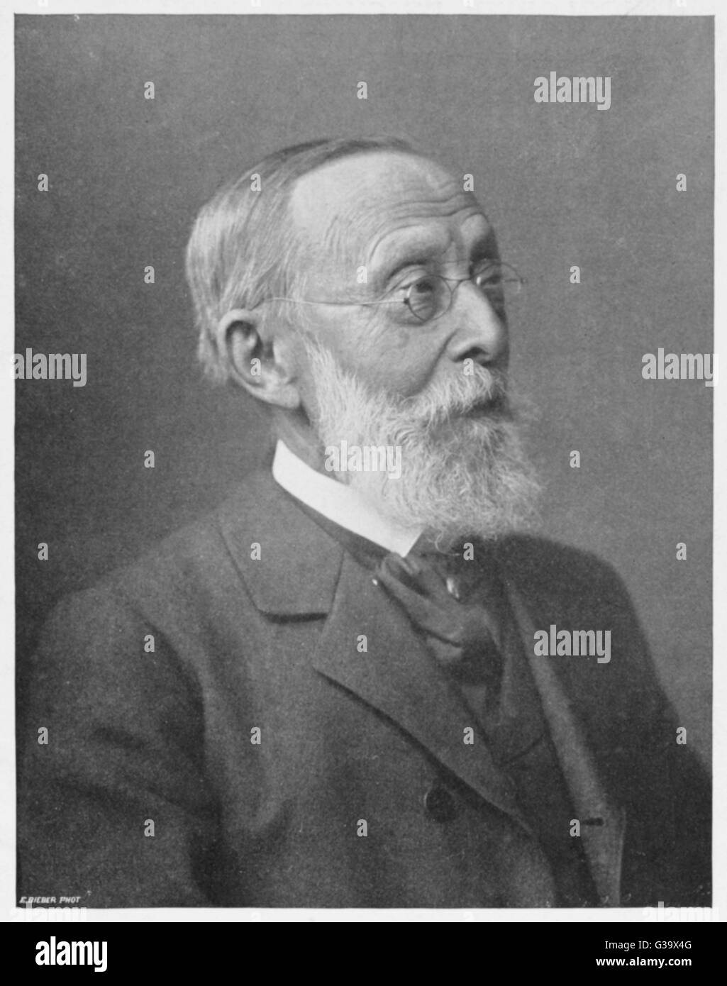 RUDOLF VIRCHOW German pathologist associated  with tuberculosis, rickets  etc.  : also an active  politician who - Stock Image