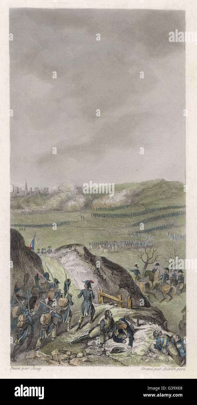 Battles of TIRLEMONT and GOIZENHAVEN between the  French and the Austrians        Date: 16 March 1793 - Stock Image