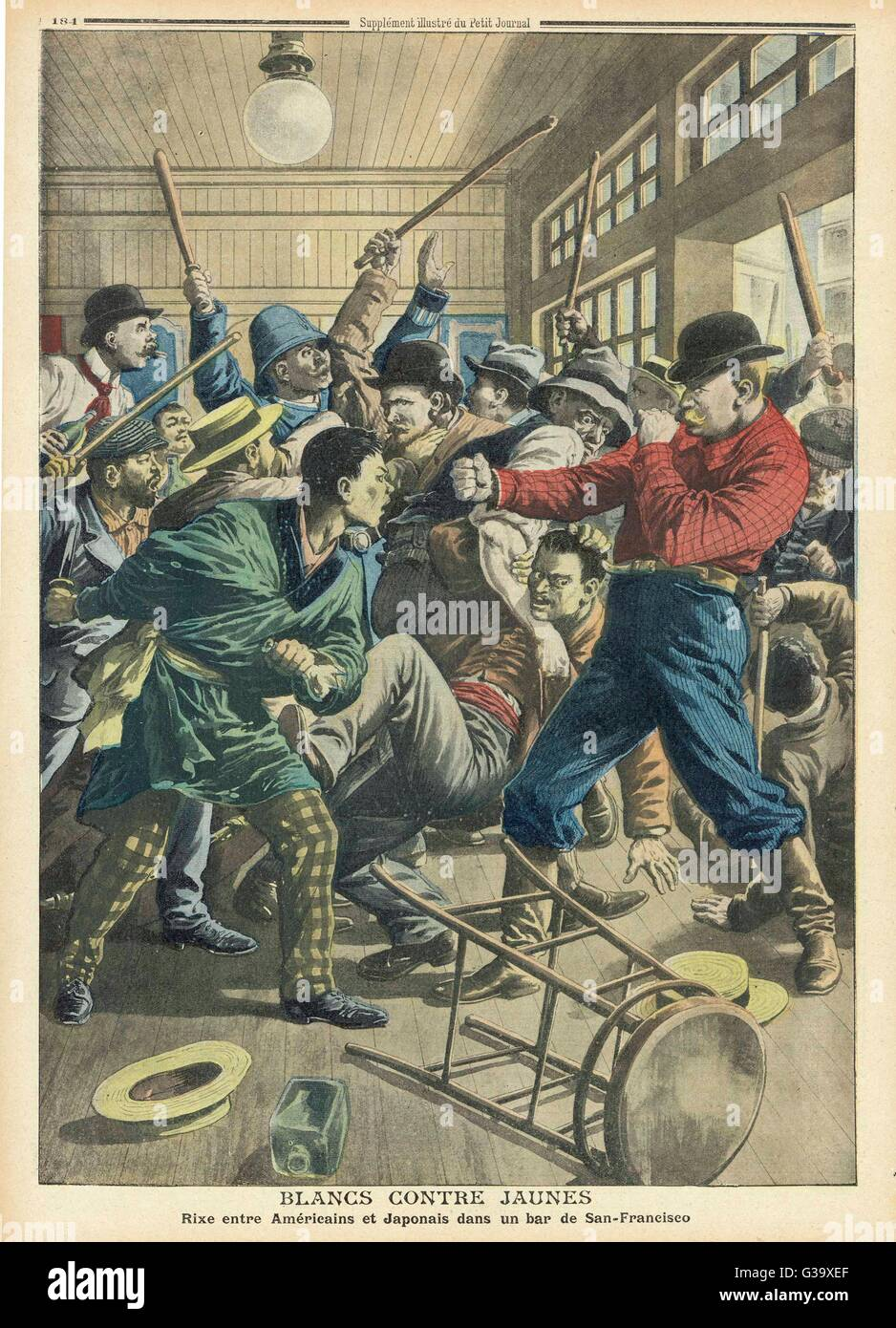 Race riots against the  Japanese in San Francisco         Date: 1907 - Stock Image