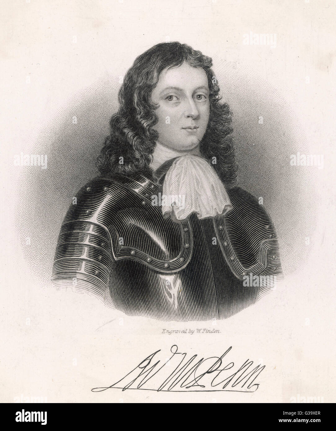 WILLIAM PENN  English religious reformer and  colonialist as a young man       Date: 1644 - 1718 - Stock Image