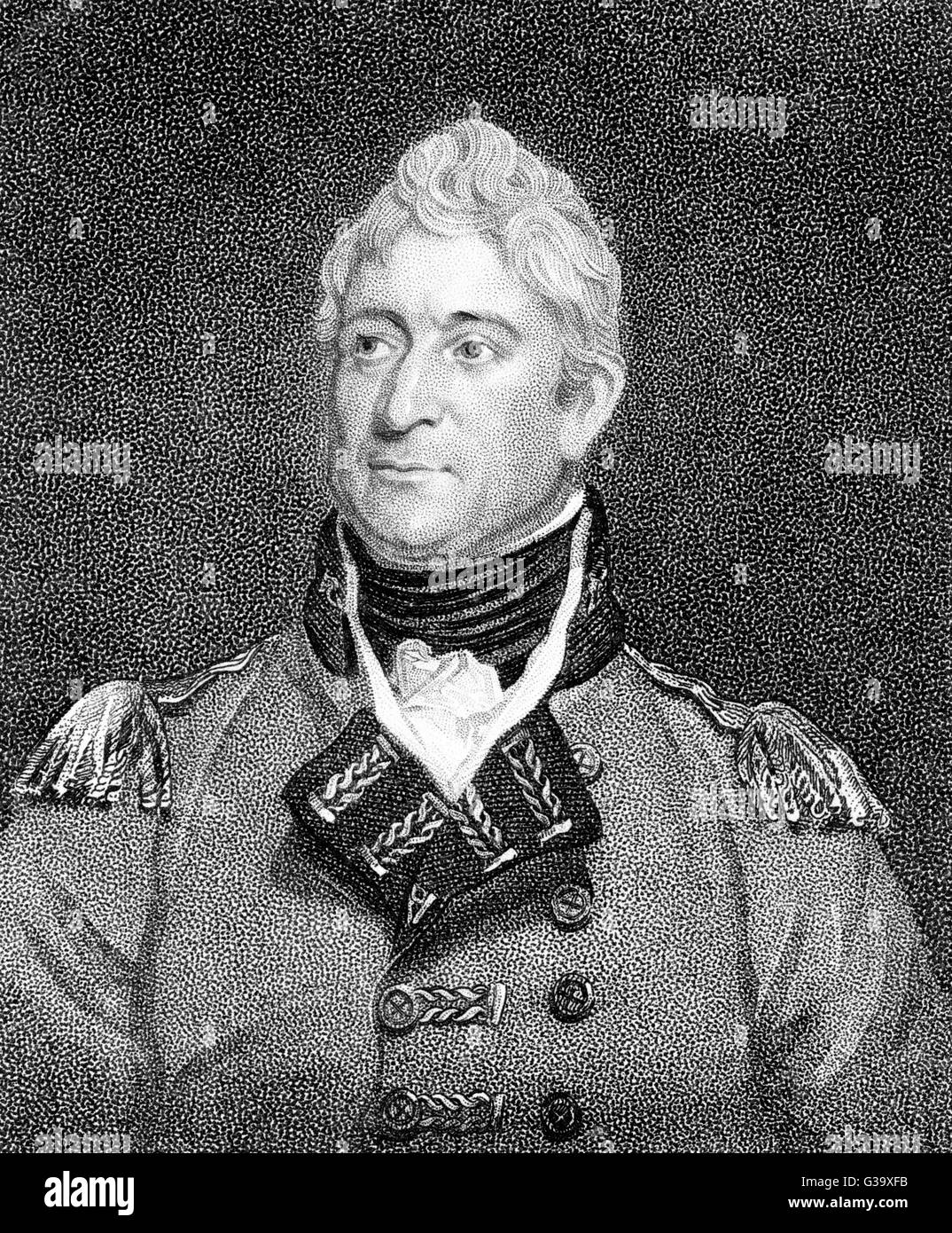 SIR THOMAS PICTON  British army officer        Date: 1758 - 1815 - Stock Image
