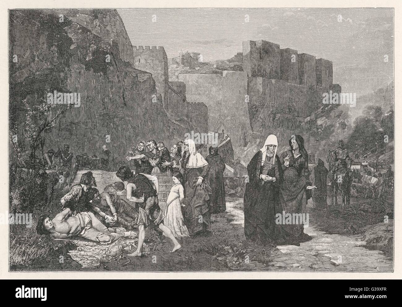 The persecution of the  Albigensians (Cathars).         Date: circa 1208 - Stock Image