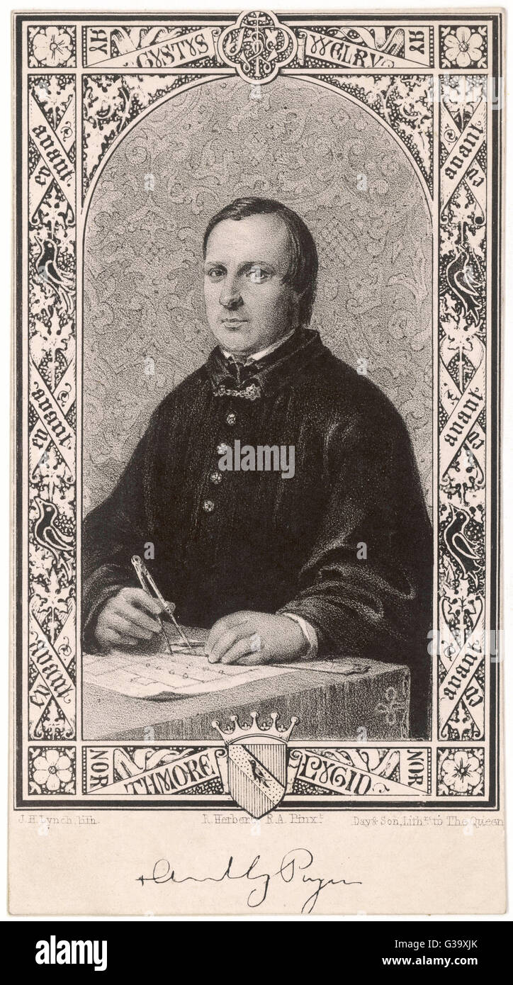 AUGUSTUS WELBY NORTHMORE PUGIN  English architect and designer who championed the gothic style      Date: 1812  - Stock Image