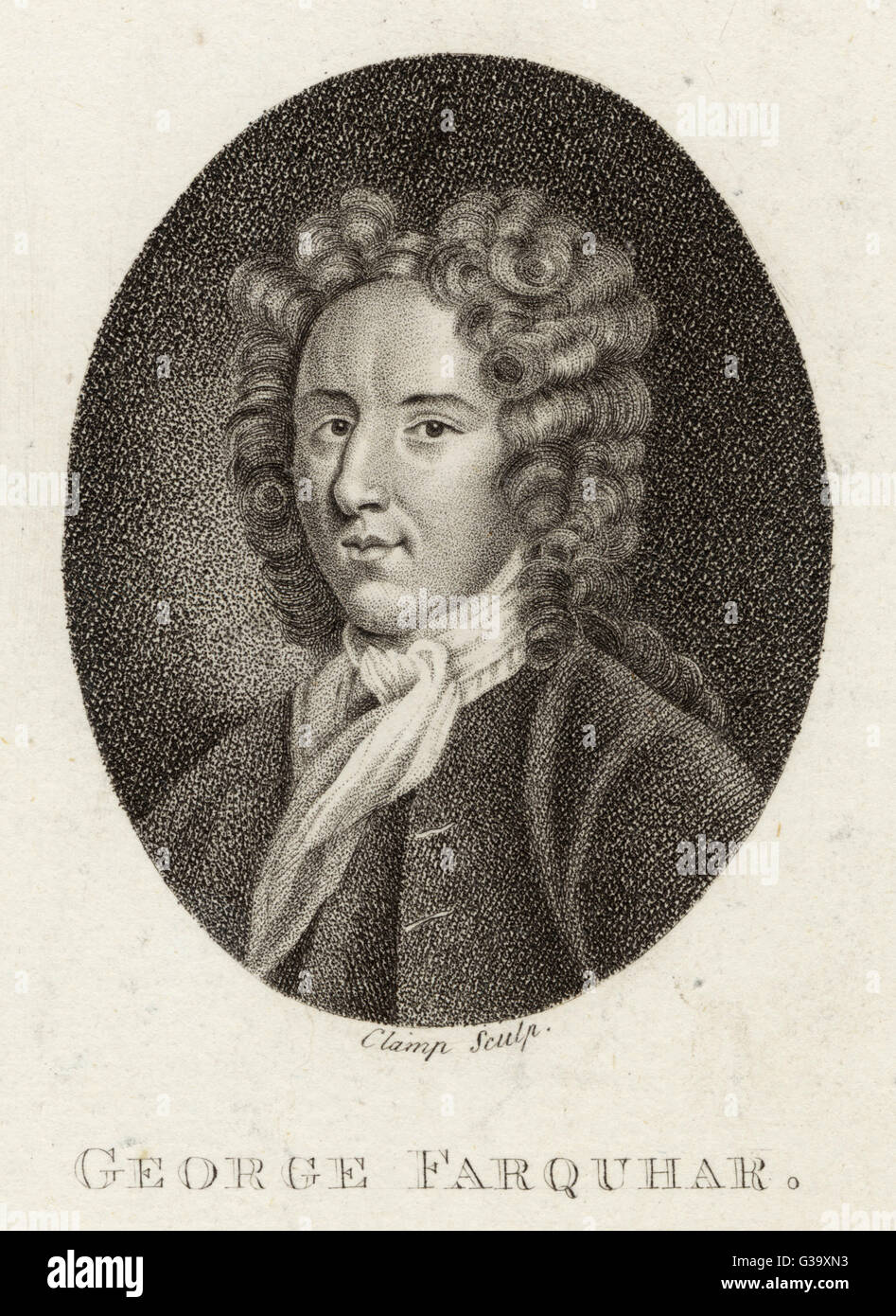 GEORGE FARQUHAR  playwright        Date: 1678 - 1707 - Stock Image