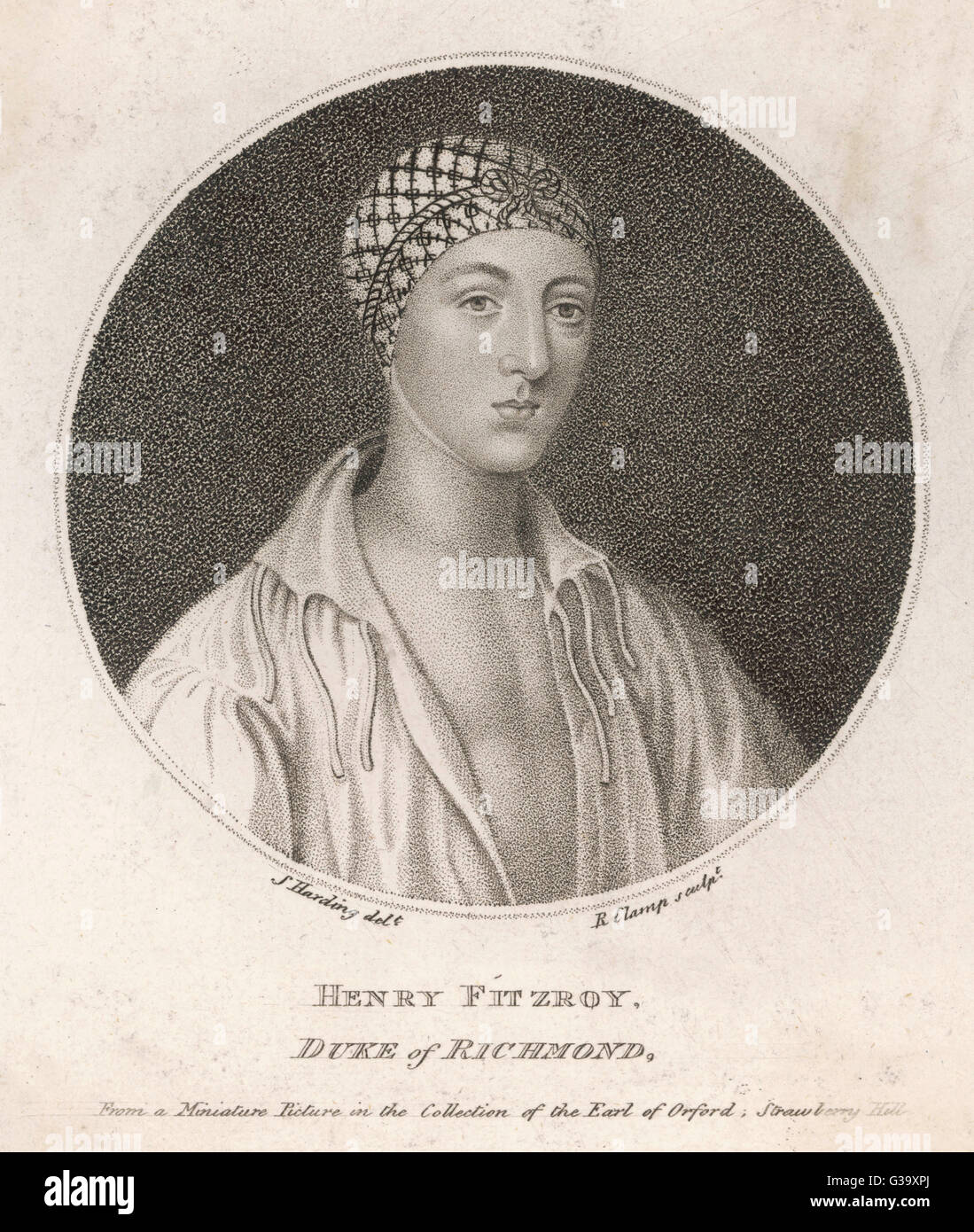 HENRY FITZROY DUKE OF RICHMOND  Illegitimate son of  HENRY VIII - his mother was ELIZABETH BLOUNT     Date: 1519 - Stock Image