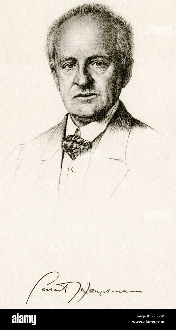 GERHART HAUPTMANN  German writer        Date: 1862 - 1946 - Stock Image