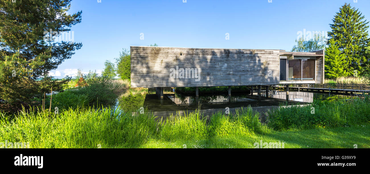The Lake Federsee Museum in Bad Buchau near Biberach, Wurttemberg, Germany. Stock Photo