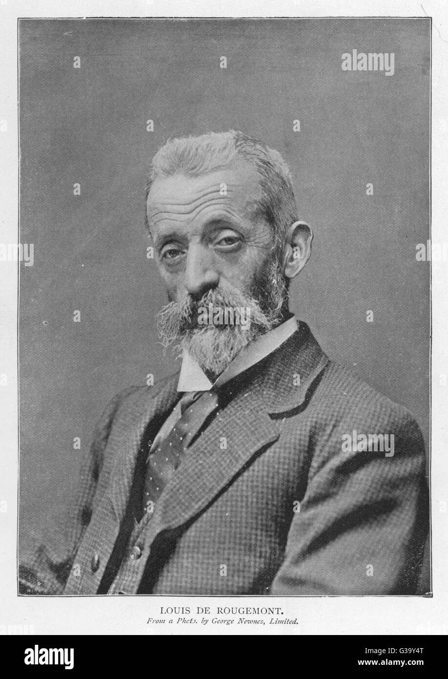 LOUIS DE ROUGEMONT real name: GRIN  Manservant, travel  writer and hoaxer      Date:     - - Stock Image