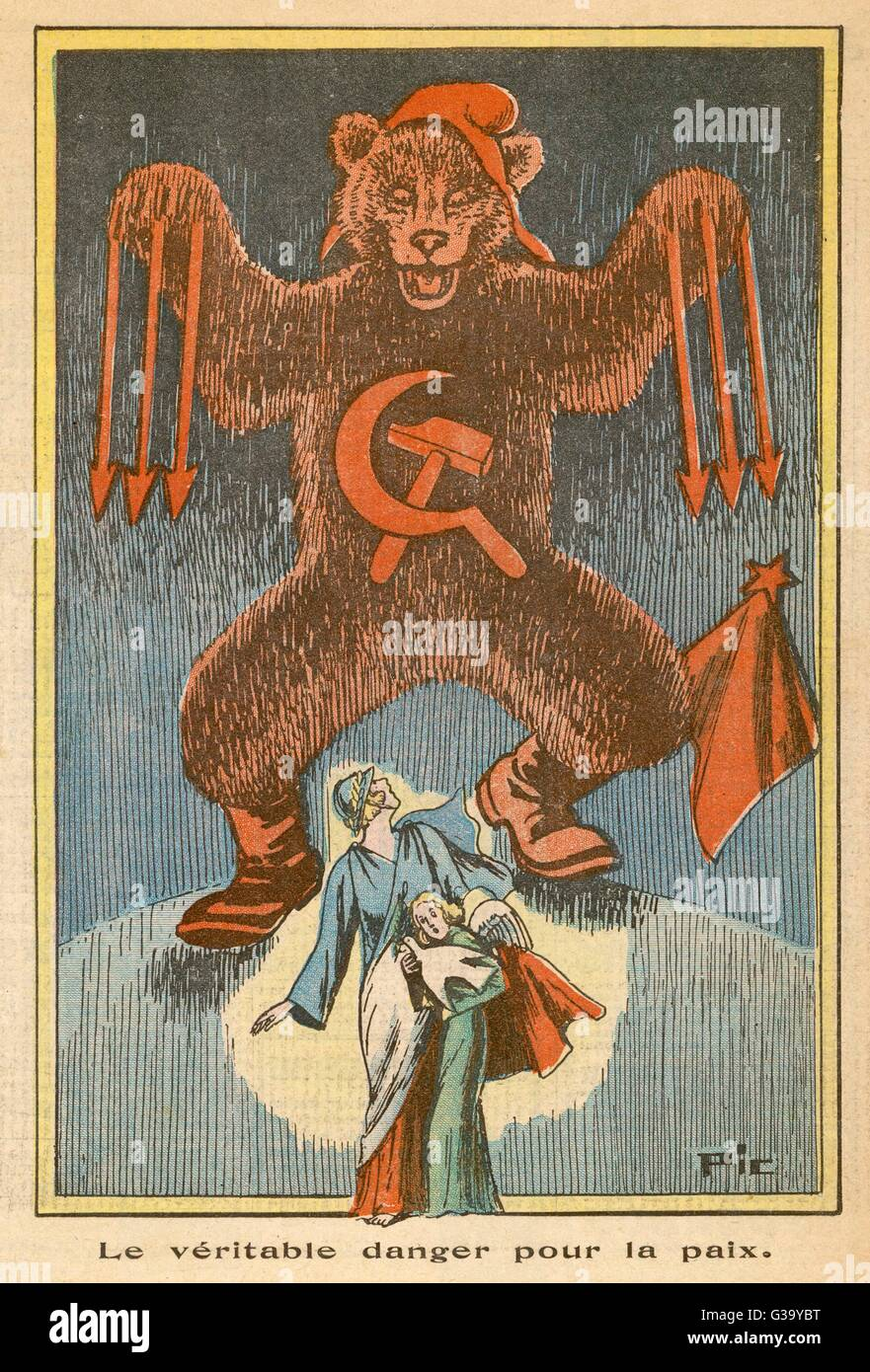 Soviet communism - the real  threat to peace (from the  point of view of a right-wing  Catholic journal)       Date: - Stock Image