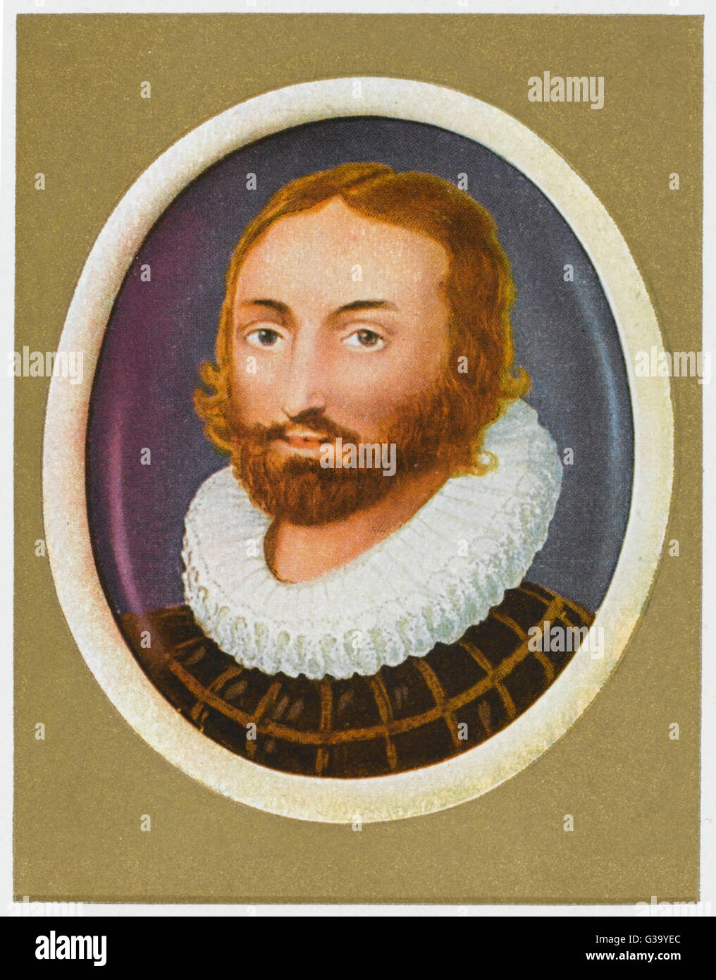 EDMUND SPENSER  English poet         Date: 1552 - 1599 - Stock Image