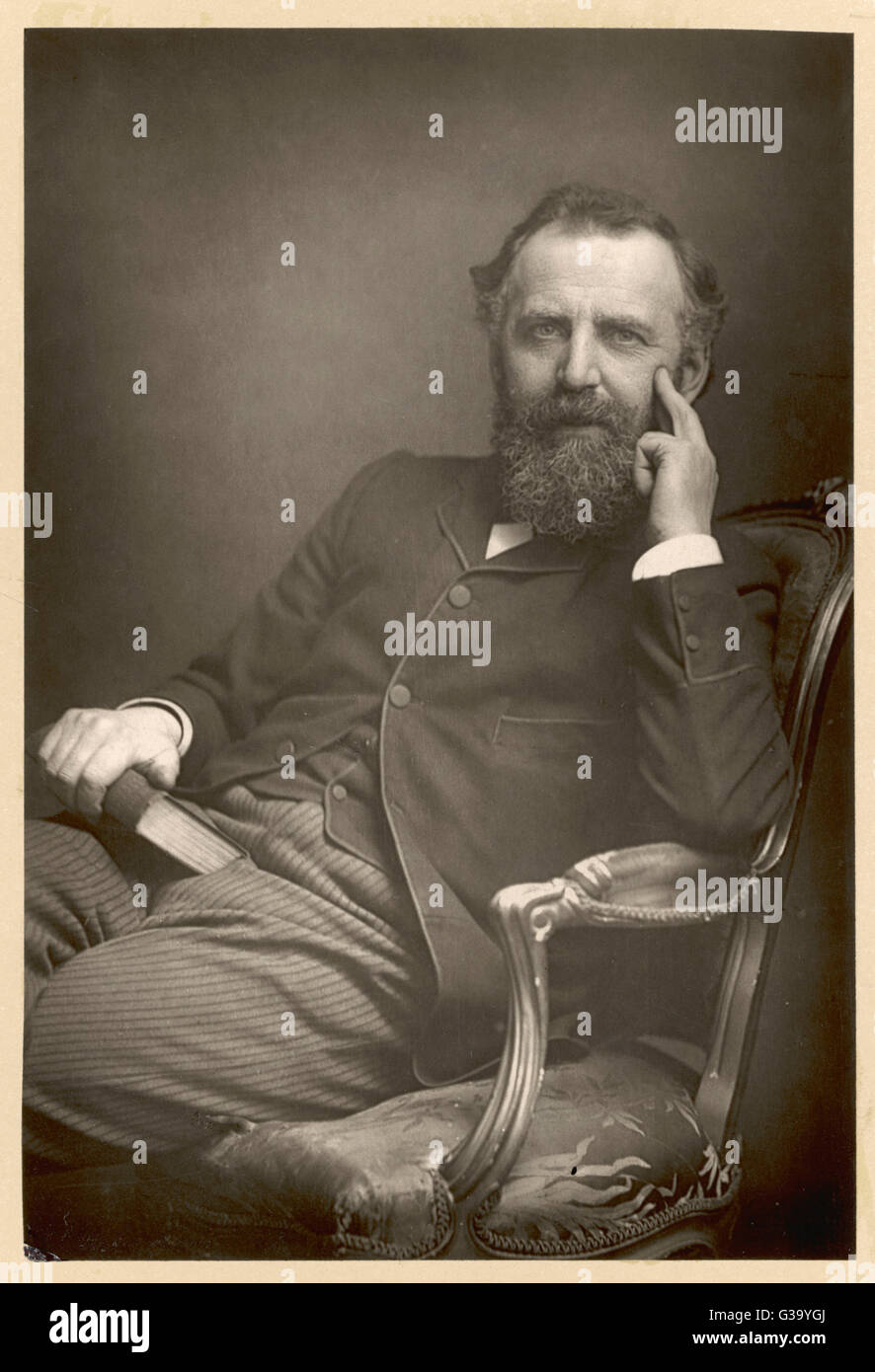 WILLIAM THOMAS STEAD  English journalist in 1893        Date: 1849 - 1912 - Stock Image
