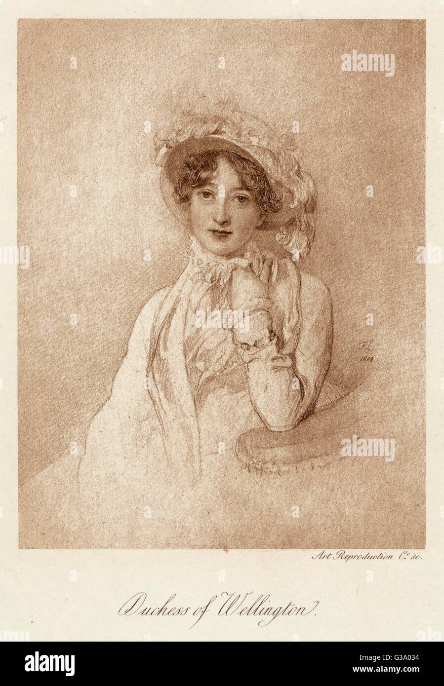 CATHERINE PAKENHAM DUCHESS of WELLINGTON  'Kitty' Wife of 1st Duke of Wellington     Date: 1773 - 1831 - Stock Image
