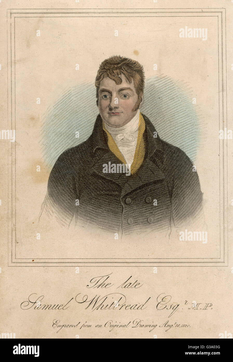 SAMUEL WHITBREAD  Brewer and MP        Date: 1758 - 1815 - Stock Image